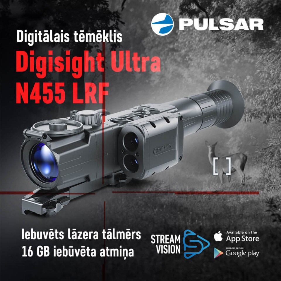Pulsar Digisight Ultra N455 LRF digitālais tēmēklis