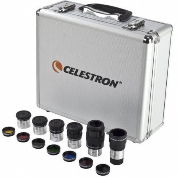 "Celestron 1.25"" okulāru un filtru komplekts ar koferi"