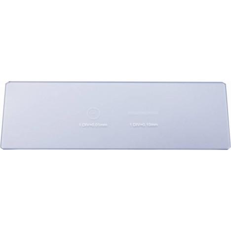 Bresser tukšs slaids ar 0.1 & 0.01 mm mikrometru
