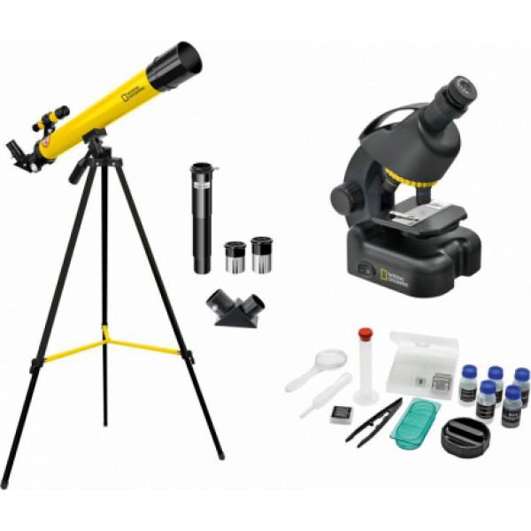 National Geographic Teleskopa 50/600 un Mikroskopa 40x-640x komplekts