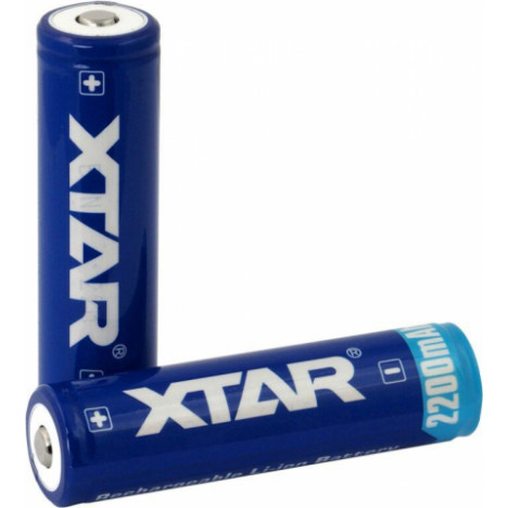 XTAR 18650 3.7V 2200mAh Li-ion akumulators