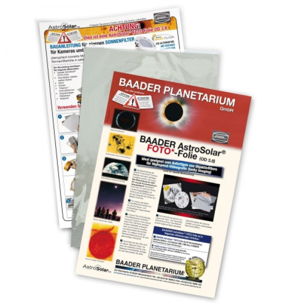 Baader Planetarium AstroSolar Photo Film 3.8, 20x30cm saules filtrs fotogrāfēšanai