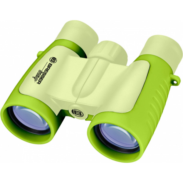 Bresser Junior 3x30 binoklis (zaļš)