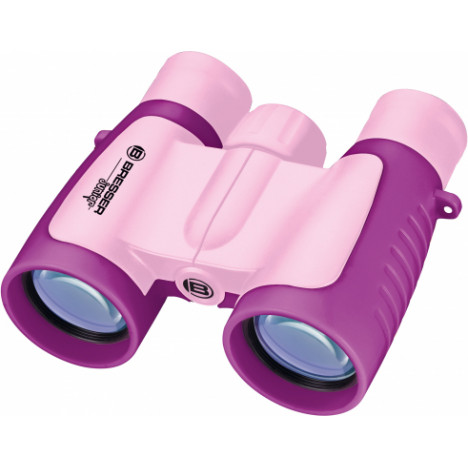 Bresser Junior 3x30 binoklis (rozā)