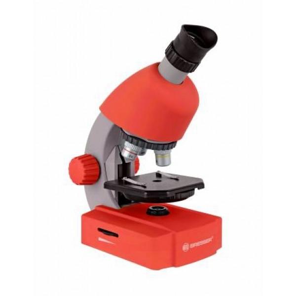 Bresser Junior 40x-640x mikroskops (sarkans)