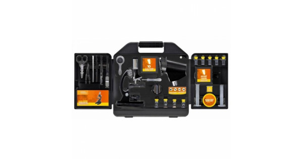 National geographic microscope set with case